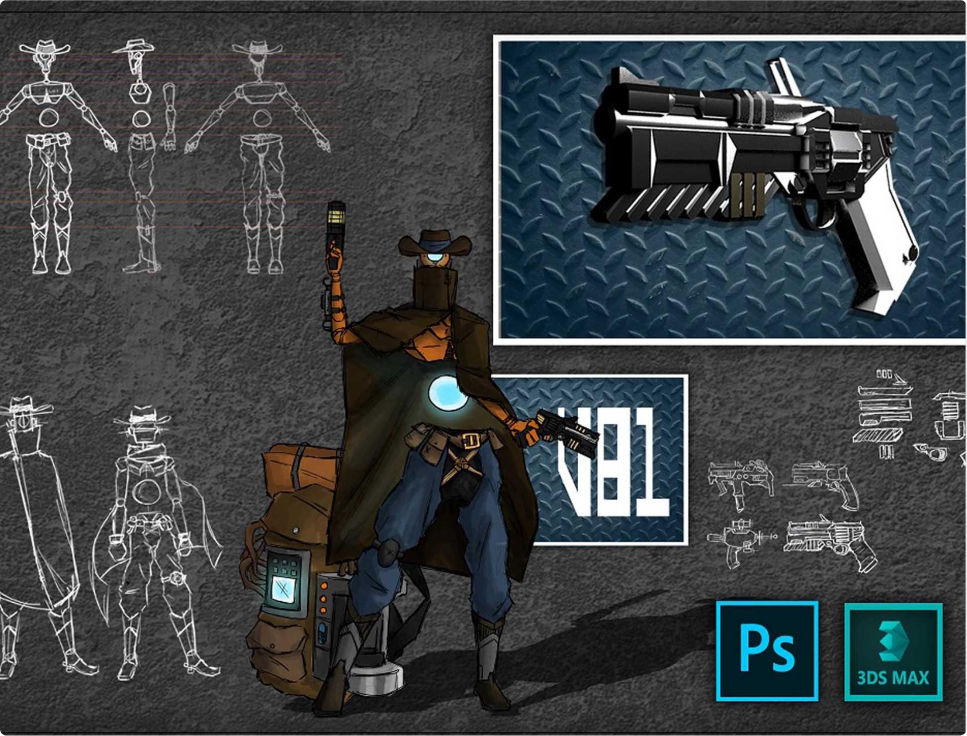 Design de personagens 2D e 3D